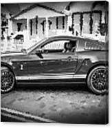 2013 Ford Mustang Shelby Gt 500 Bw Canvas Print