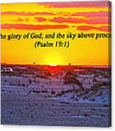 2014 03 12 02 A Psalm 19 1 Canvas Print