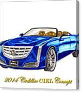 2014 Cadillac Ciel Concept Canvas Print