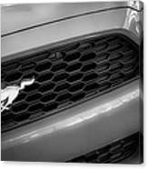2015 Ford Mustang Prototype Grille Emblem -0092bw Canvas Print