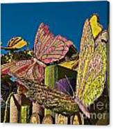 2015 Rose Parade Float Of Butterflies 15rp045 Canvas Print