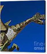 2015 Rose Parade Float Showing A Dragon 15rp039 Canvas Print