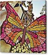 2015 Rose Parade Float With Butterflies 15rp043 Canvas Print