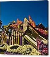 2015 Rose Parade Float With Butterflies 15rp044 Canvas Print