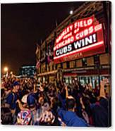 2016 World Series  - Chicago Cubs V Canvas Print