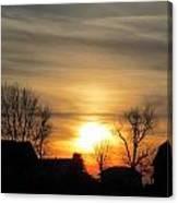 21 Dec 2012 Sunset Two Canvas Print