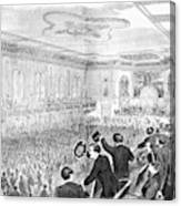 Presidential Campaign, 1860 Canvas Print