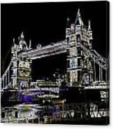 Tower Bridge Art Canvas Print