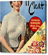 1950s Uk Home Chat Magazine Cover Canvas Print