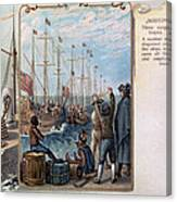 Boston Tea Party, 1773 Canvas Print