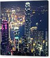 Hong Kong Panorama From Peak Canvas Print