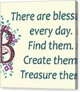 223- Blessings Canvas Print