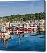 Lyme Regis Harbour Canvas Print