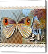 24 Cent Butterfly Stamp Canvas Print