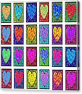 24 Hearts In A Box Canvas Print