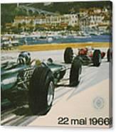 24th Monaco Grand Prix 1966 Canvas Print