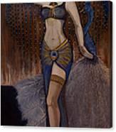 24x48 Peacock Dancer Canvas Print