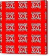 25 Affirmations Of Love In Red Canvas Print