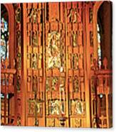 Church Wood Art Canvas Print