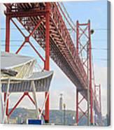 25 De Abril Bridge 2 Canvas Print