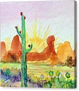 Southwestern Landscape Canvas Print