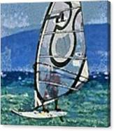 Windsurfing Canvas Print