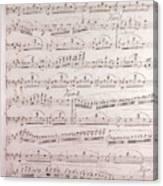 Handwritten Sheet Music, Music Notes Canvas Print