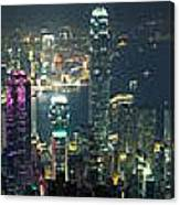 Hong Kong Panorama From Peak Canvas Print