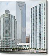 Skyscrapers At The Waterfront Canvas Print
