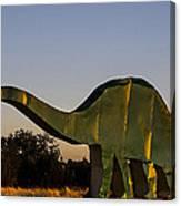 2d Brontosaurus Canvas Print