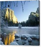 2m6538-yosemite Valley In Winter Canvas Print