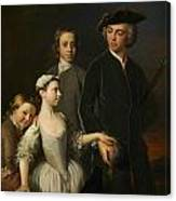2nd Baron Mansel Of Margam With His Blackwood Half-brothers And Sister  Canvas Print