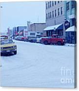 2nd Street Fairbanks Alaska 1969 Canvas Print