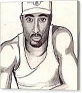 2pac Shakur Canvas Print