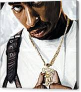 2Pac Tupac Shakur Artwork  Canvas Print