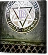 1923 Dodge Brothers Depot Hack Emblem Canvas Print