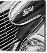 1939 Ford Woody Wagon Side Emblem Canvas Print