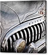 1947 Buick Eight Super Grille Emblem Canvas Print