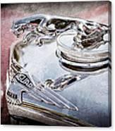 1948 Jaguar Mark Iv Drophead Coupe Hood Ornament Canvas Print