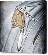 1948 Pontiac Hood Ornament Canvas Print