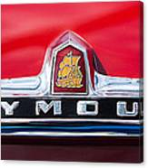 1949 Plymouth P-18 Special Deluxe Convertible Emblem Canvas Print