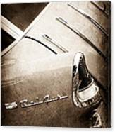 1955 Chevrolet Nomad Wagon Taillight Emblem Canvas Print