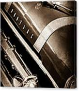 1955 Pontiac Star Chief Grille Emblem - Hood Ornament Canvas Print