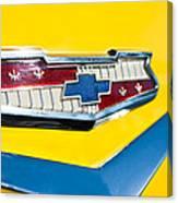 1956 Chevrolet Belair Emblem Canvas Print