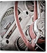 1956 Ford Thunderbird Steering Wheel Canvas Print