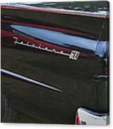 1957 Ford Fairlane Convertible Wheel Emblem Canvas Print
