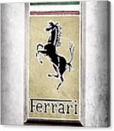 1959 Ferrari 250 Gt Emblem Canvas Print