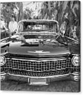 1960 Cadillac Eldorado Biarritz Convertible Painted Bw Canvas Print