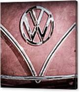 1964 Volkswagen Vw Double Cab Emblem Canvas Print