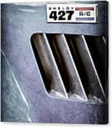 1965 Shelby Cobra 427 Emblem Canvas Print